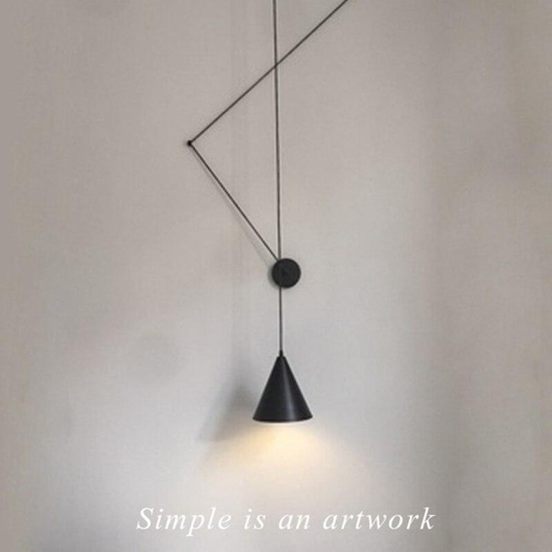 Creative moderne suspension lampe lumière LED bricolage Long cordon suspension lampe en métal abat-jour luminaires chambre à manger café Bar Club