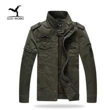 Hombres chaqueta militar más el tamaño 6xl ejército soldado algodón lavado del air force one hombres clothing primavera otoño chaquetas para hombre