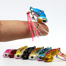 New Arrival Metal Mini VIB With Spoon Fishing Lure 3g 6g Winter Ice Lures Tackle Crankbait Vibration Spinner 2019