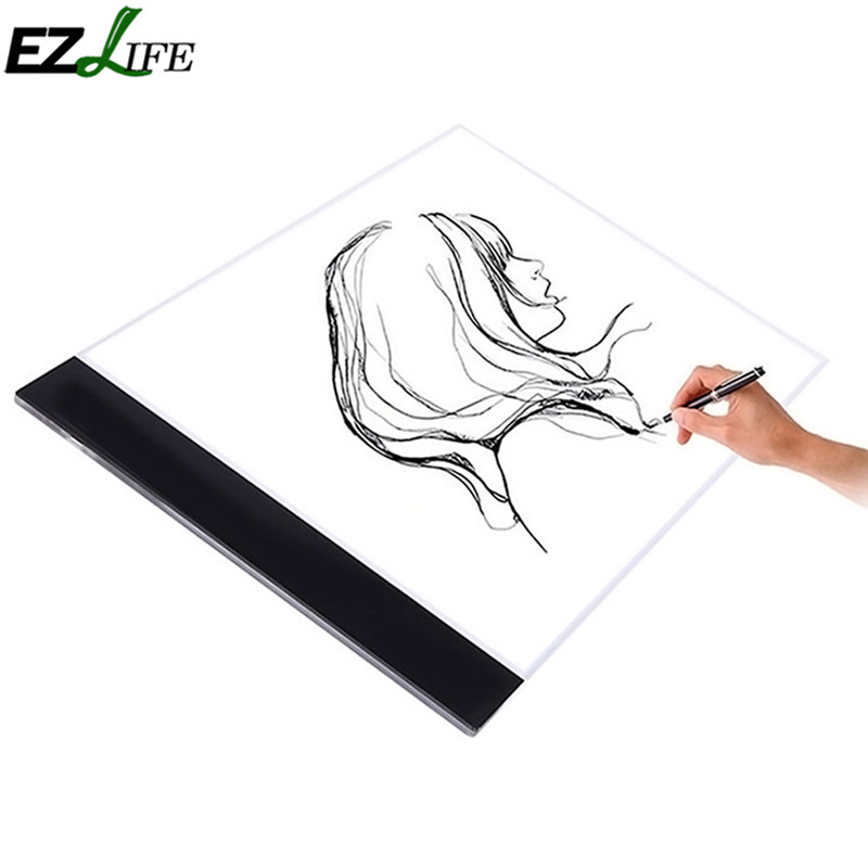 EZLIFE 1 Set A4 Tracing Drawing Board LED Artist Thin Art Stencil Board Light Box Tracing Drawing Board NEW WX0080