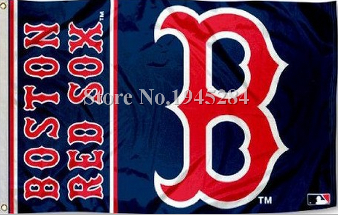 MLB Boston Red Sox Wordmark Flag New 3x5ft 90x150cm Polyester Flag Banner 7026, free shipping