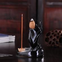 Bergamotte Lotus Räucherstäbchen Halter Buddha Hand Rauch Rückfluss Cone Räuchergefäß räuchergefäß Versandkostenfrei