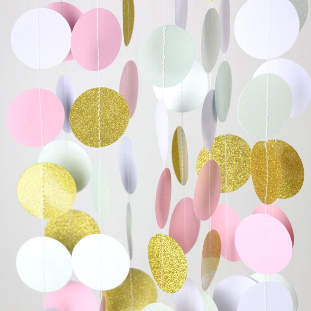5pcs Pink, Mint and Gold Nursery Decor Wedding Photoshoot Prop-in ...