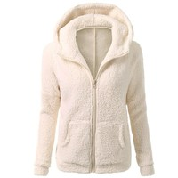 2017 Women Autumn Spring Winter Fleece Hooded Hoodie 5XL Flannel Velvet Warm Hoody Leisure Zipper Outwear
