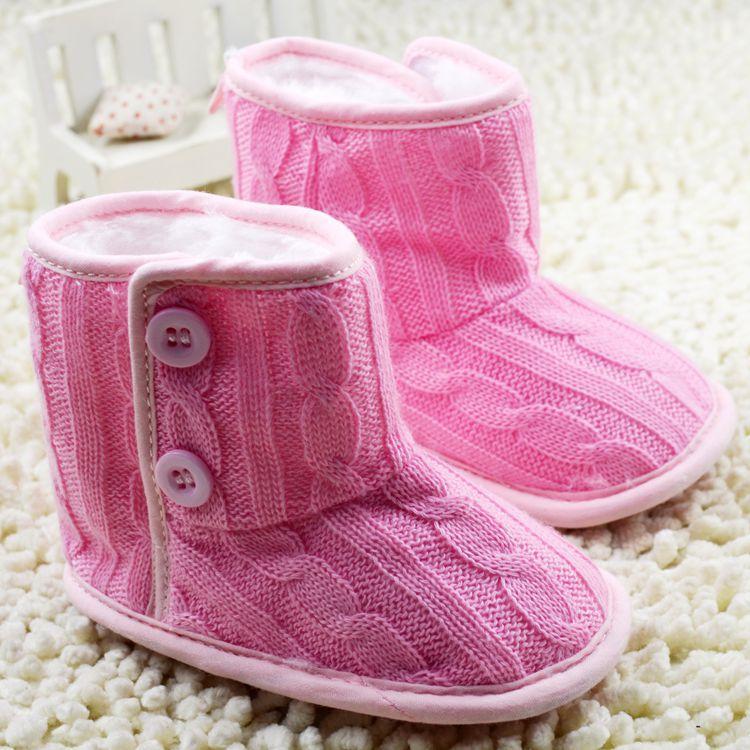 Invierno zapatos de moda de lana para niños pequeños zapatos de bebé zapatos niñ