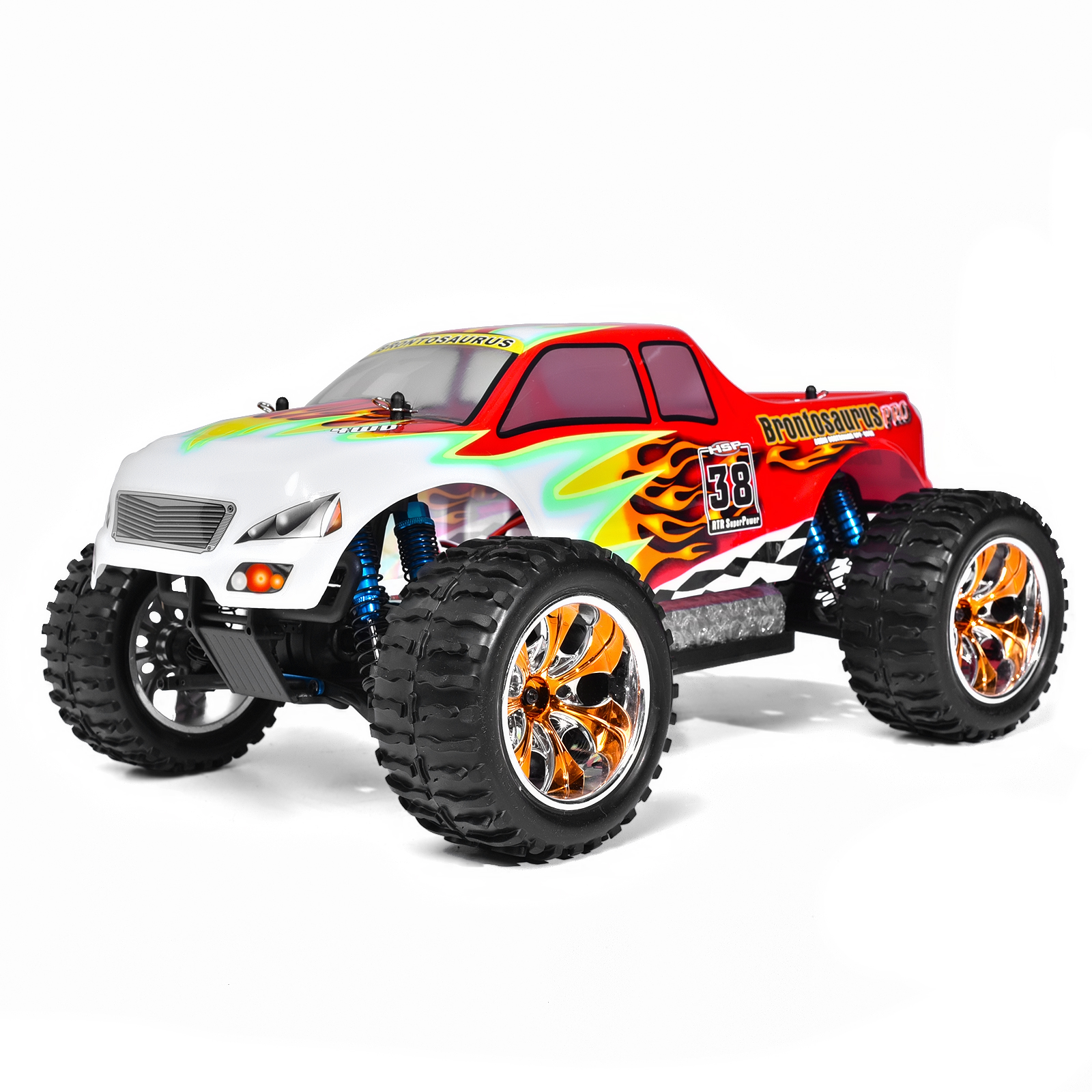 HSP Rc Car 1/10 Scale Model Off Road Monster Truck Remote Control Car 94111PRO Brushless With LIPO Battery 4wd Electric Car 02023 clutch bell double gears 19t 24t for rc hsp 1 10th 4wd on road off road car truck silver