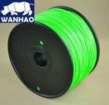 In stock Eco friendly Wanhao 1 75mm luminous green special color ABS filament for 3d printer