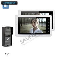 HOMSECUR 1V2 7 Video Door Phone Intercom System+Touch Button Monitor for Apartment