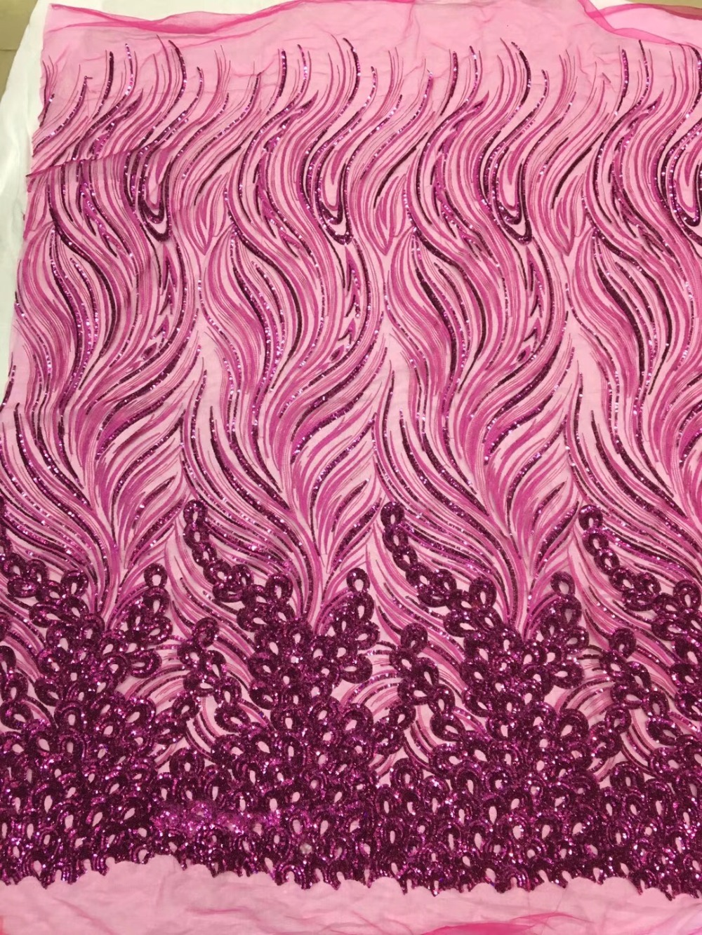 Sequin Lace Fabric Embroidered Tulle Fabric Nigerian Lace Fabric 2018 High Quality Lace For African Women PartySequin Lace Fabric Embroidered Tulle Fabric Nigerian Lace Fabric 2018 High Quality Lace For African Women Party