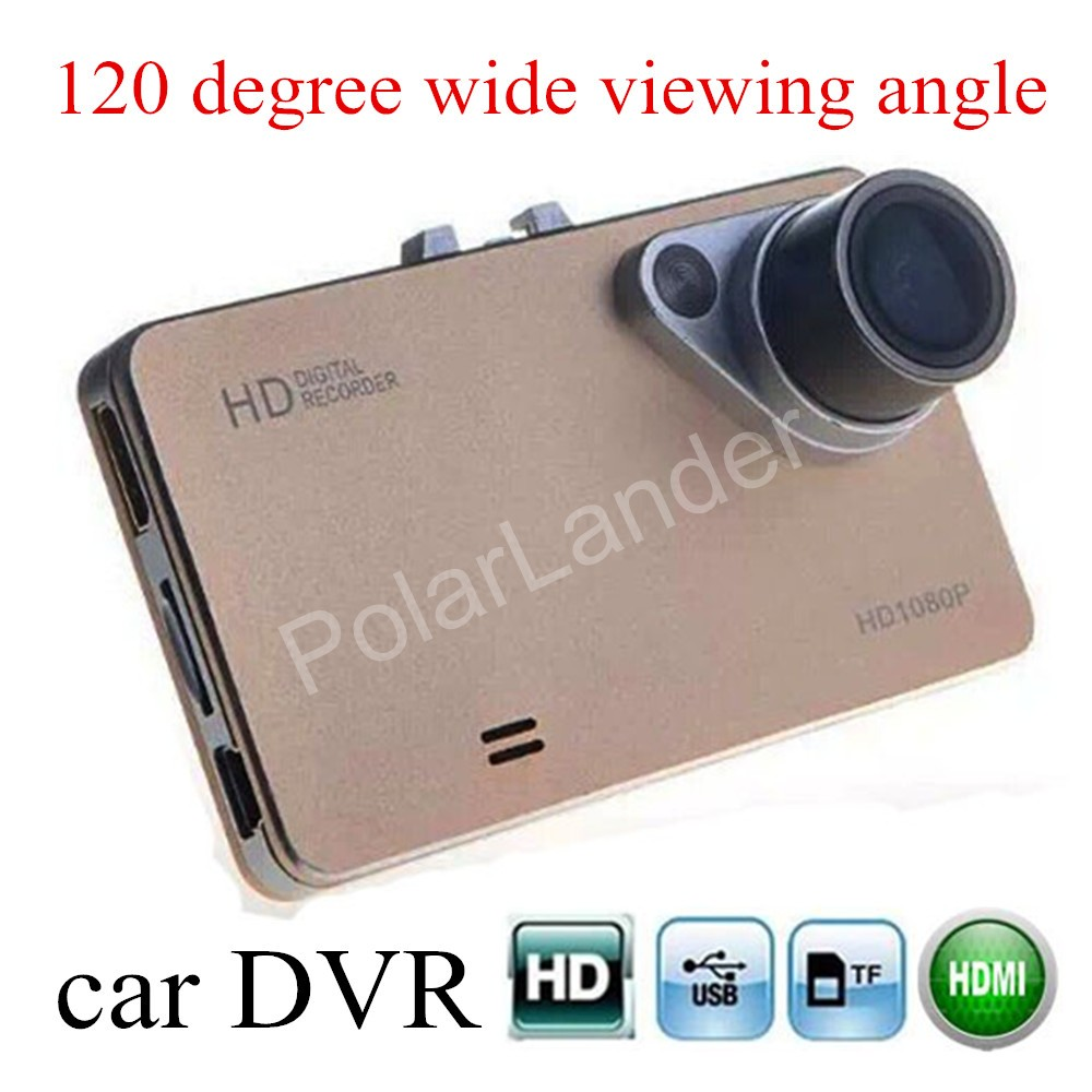 Livraison gratuite voiture DVR Full HD 120 degrés grand angle de vision vision nocturne DVR caméra enregistreur vidéo carcam dash cam