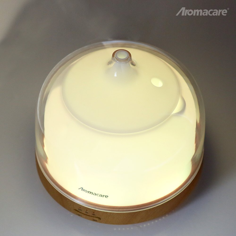 Aromacare Ultrasonic Diffuser 200ml Kayu Bijian Pangkalan Air Minyak - Perkakas rumah - Foto 4