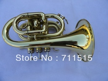 Sparkly Brass Trompeta Plated The Pocket Trumpet Descending Bb Trumpet Gold Trompete Professional Musical Instruments