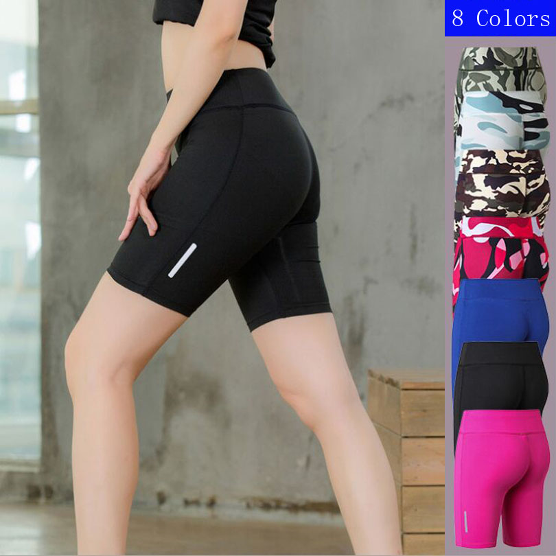2018 reflective leggings Yoga Shorts , short feminino gym , sports shorts women gym , jogging shorts women , yogq workout Wear