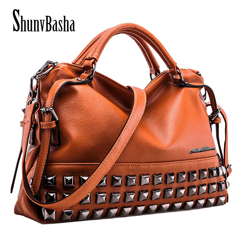 ShunvBasha Women Casual Tote PU Leather Handbag Bag Fashion Vintage Large Shopping Bag Designer Crossbody Bags Big Shoulder Bag