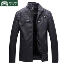 Brand New Male leather Jacket Biker Men Jacket Punk Motorcycle Bomber