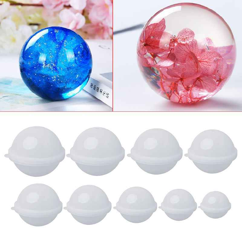 Silicone Mold DIY Stereo Spherical Jewelry Making DIY Balls Epoxy Resin Molds Crafts Handmade Cake Fondant Decoration 20-100mm