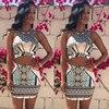 2-Piece Print Bodycon Dress