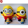 OHMETOY 4PCS Minions Plush Doll Despicable Me Keychains Key Ring Plushie Toy Cartoon Anime Doll Action Figure Juguetes Kids Gift