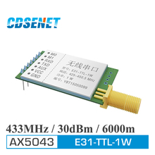 1pc AX5043 433MHz rf Transmitter and Receiver Long Range Wireless rf Module E31-TTL-1W 1W 433 mhz rf Transceiver iot Circuit(China)