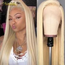 Perruque Lace Frontal Wig naturelle brésilienne lisse – Nadula, blond 150%, 13*4, densité 613, pour femmes africaines
