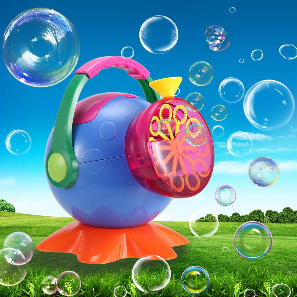 2018 New Soap Bubble Machine Outdoor A Plastic Bubbles Blower Toys for Kids