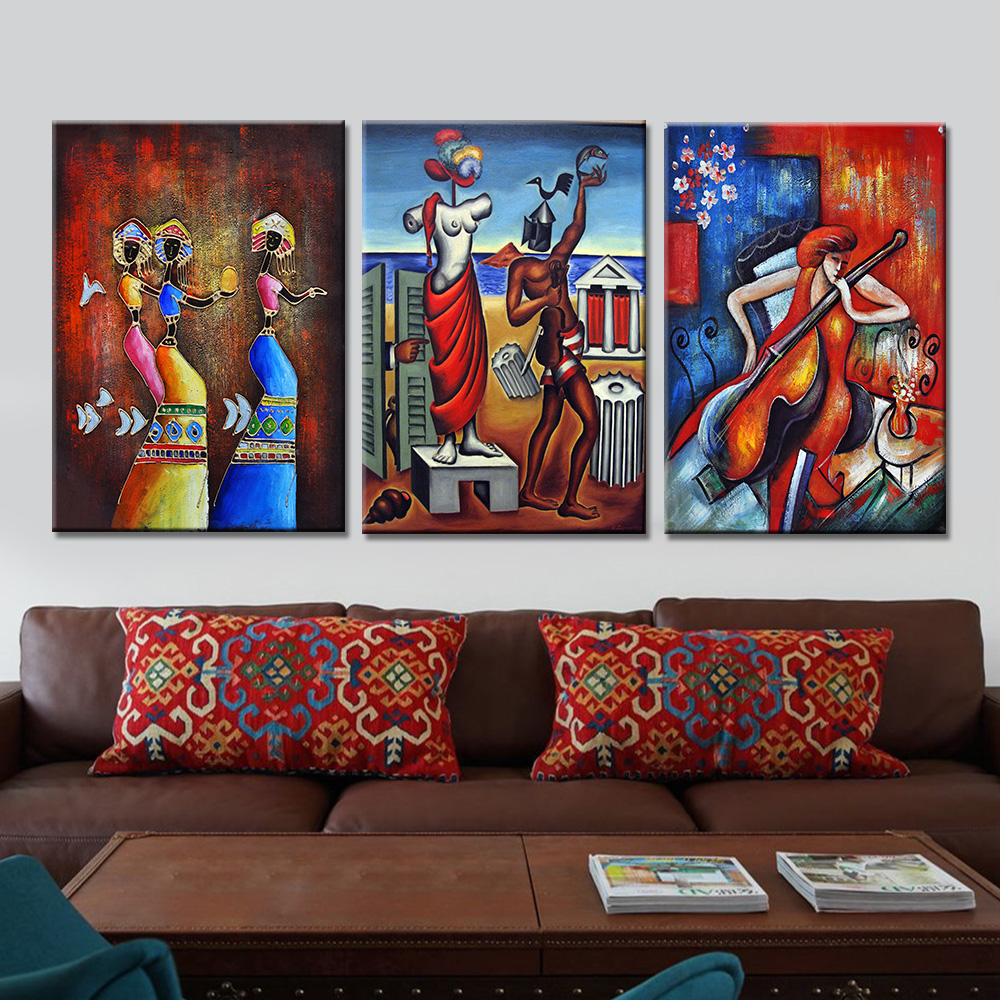 online get cheap art drop aliexpress com alibaba group drop shipping 3 panels portrait painting art canvas poster abstract wall paintings for the living room home decor