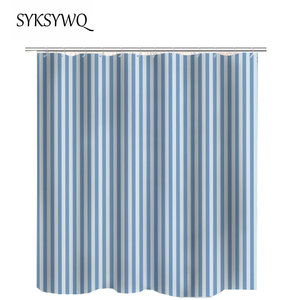 Image 4 - Black And White Striped Shower Curtain Black Bathroom Curtain White Curtains For Bathroom Shower Drop Shipping Fabric Polyester