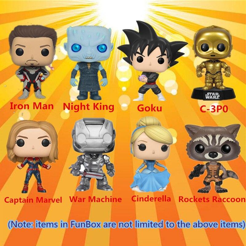 ¡FUNKO POP! Caja sorpresa de gran valor Marvel Avengers Liga de la justicia de la Liga de la justicia muñeca de vinilo de la acción de la muñeca modelo de juguetes entrega al azar - 3