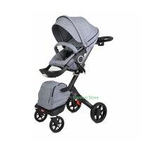 INBB роскошный высокий пейзаж 2 в одном детская коляска двухсторонний складной легкий зонтик четыре колеса