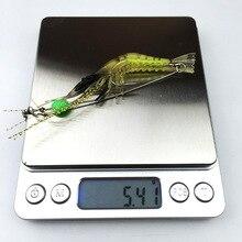 1pcs Shrimp Soft Lure 9cm 6g Fishing Artificial Bait With Glow Hook Swivels Anzois Para Pesca Sabiki Rigs Fishing Lure FA248