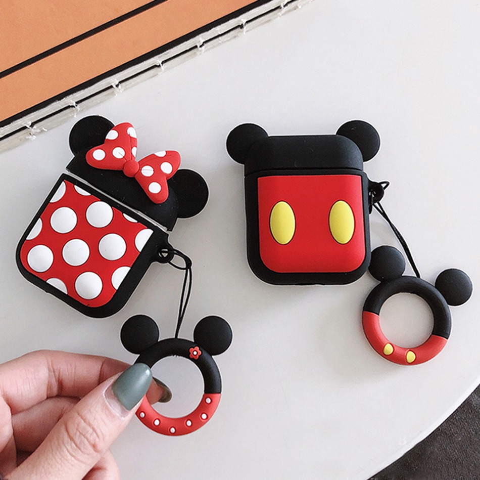 For Airpod Case Mickey Minnie Mouse Bluetooth Wireless