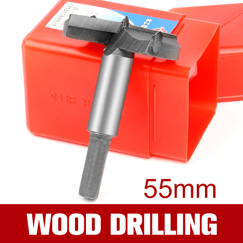 HOEN 1x 55mm Cutting Drill Bits Woodworking Nail Self Centering For Metal Tungsten Carbide Square Hole Drill Bit Rotary