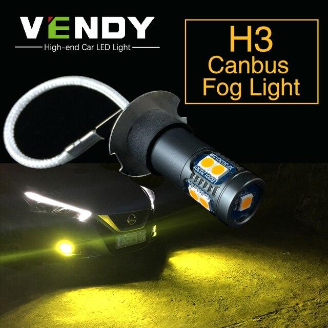 2 قطعة H3 عالية الطاقة سيارة السيارات LED الضباب أضواء 12V لمبة مصباح ل كزس LX470 ES300 IS300 SC430 GX470 سوبارو تريبيكا امبريزا ليجاسي