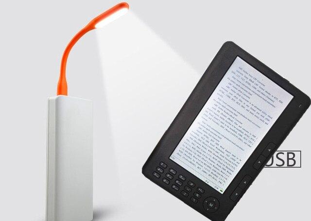 Qinkar 7 inch screen ebook reader + freies geschenk Led-lampe + Freies tasche, PDF e-book mp3 video Aufnahme Tf-einbauschlitz Mehrsprachige ereader