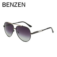 BENZEN HD Polarized Sunglasses Men Brand Design  Pilot Male Sun Glasses UV Driving Glasses Shades Black With Case 9190