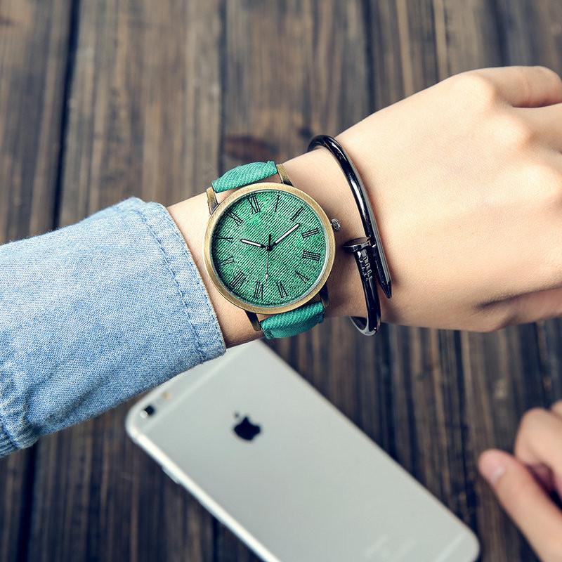 MEIBO Relojes Women Quartz Watches Denim Design Leather Strap Male Casual Wristwatch Relogio Masculino Ladies Watch female watch 3