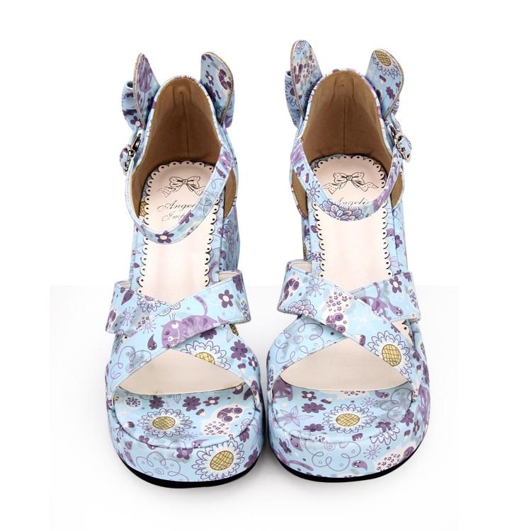 Main À La Angéliques Lolita Chaussures Mori Femme Lady 5 Talons Sandales Femmes Robe Pompes 33 blue purple Mi Légales Fille Princesse Cosplay Mentions D'été Cm 47 White AfEfxqIw