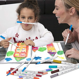 Image 5 - Pennello set marcatore per Rifornimenti di Arte 48/60/100/120 Colori Spazzola Morbida Marcatore Per Il Disegno Pittura Set Acquerelli penna per la Scuola