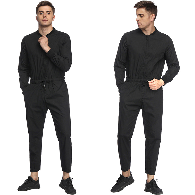 2019 New Men Casual Jumpsuit Man Multi-pocket Hooded Hip Hop Overalls Male One Piece Long Sleeved Autumn Trousers With Traditional Methods Pants