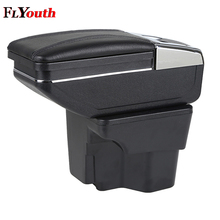 Car Armrest Box Central Store Content Box With Cup Holder Products Interior Car-Styling Accessory For Kia Rio K2 2011-2016 for chevrolet lova 2006 2010 car armrest box central store content box with cup holder interior products car styling accessory