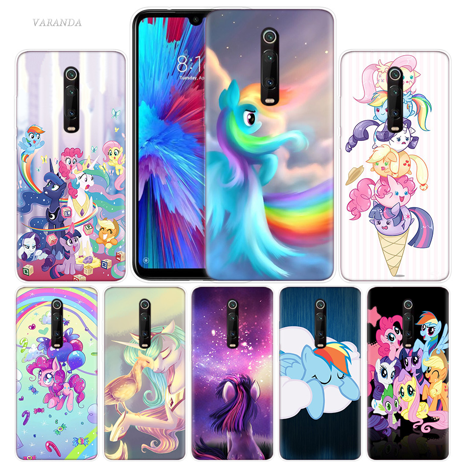 My Little Pony Case for Xiaomi Redmi Note 8 8T 9S 7 9 Pro 7A K30 Zoom MI 10 5G CC9 9T 9T A3 Poco X2 F2 Anime Phone Bags Cover