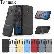 Tsimak For Nokia X7 Plus Case Cover Silicone Shockproof 2 in 1 TPU+PC Hard Armor Coque For Nokia 7.1 Plus Phone Case