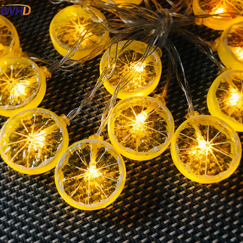 IWHD Romantic Lemon LED Christmas lights Luces Led Decoracion Holiday lighting String Light Home Party Fairy Wedding Decoration