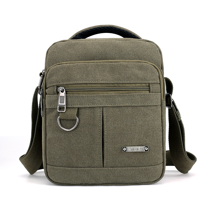 Preppy Style Flap Solid Khaki Canvas Messenger Bag For Man New 2018 Fashion Crossbody Bag Multi-function Leisure Shoulder Bag