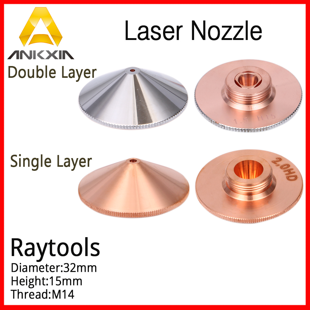 Raytools SENFENG Empower Laser Cutting Nozzle BT210 230 240 Fiber Dia32mm H15mm Thread 14mm Caliber 1.0-5.0