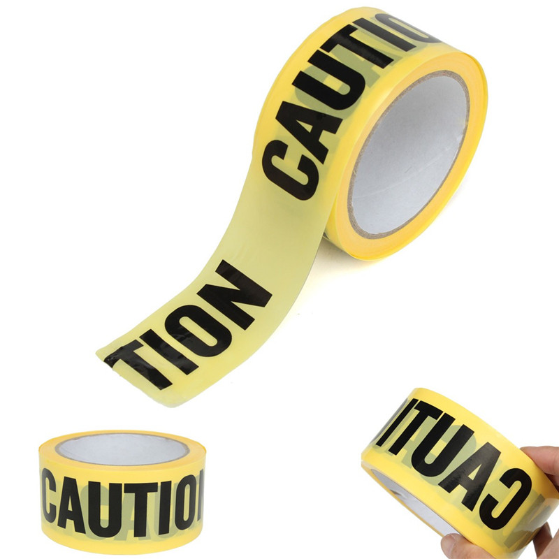 High Quality 50mx5cm Roll Yellow Caution Tape Sticker For Safety Barrier For Police Barricade For Contractors New Arrival lust caution 3001