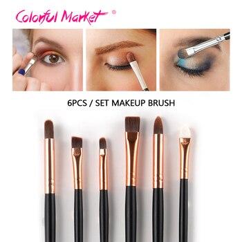 Venda quente 6 Pcs beleza make up blush set pincéis de maquiagem Profissional