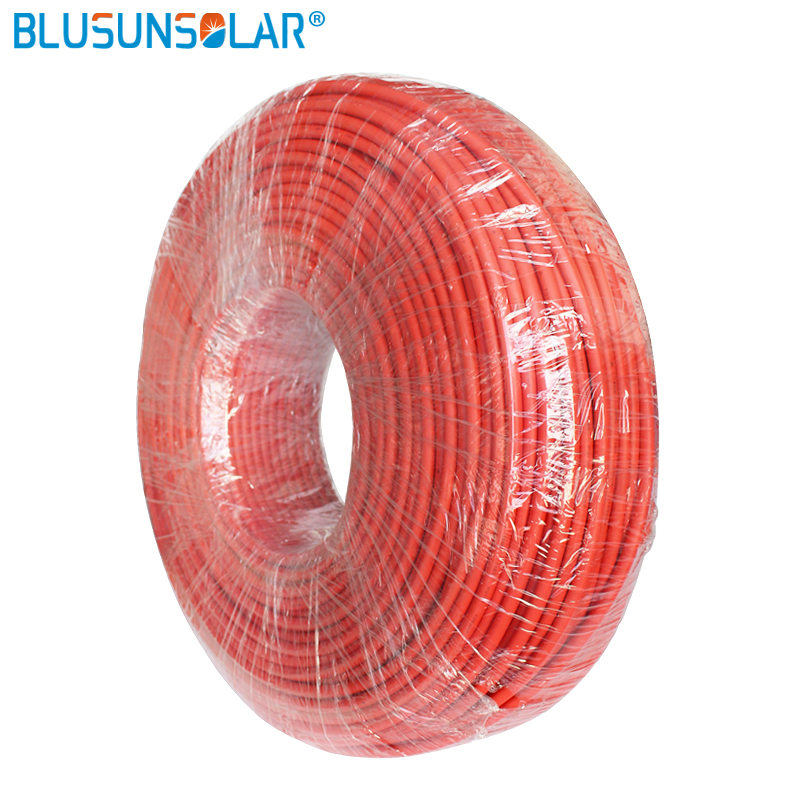 High Performance 6mm Solar PV Cable 10AWG Solar PV Cable With TUV UL 10M/ Roll