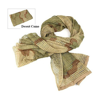 190*90cm Cotton Military Camouflage Tactical Mesh Scarf Sniper Face Veil Camping Hunting Multi Purpose Hiking Scarve 2
