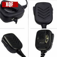 XQF 2 Pin Speaker Mic with PTT for Icom Two Way Radio IC-F24S IC-F31 IC-F3 IC-F3S(China)